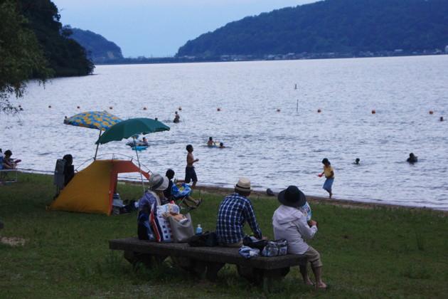 琵琶湖近江八幡休暇村の浜