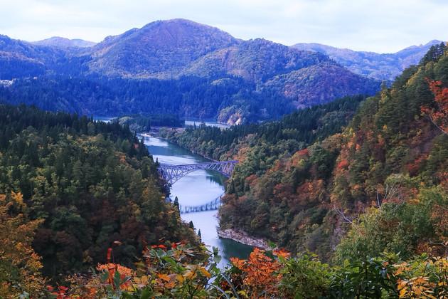 福島県、第一只見川橋梁