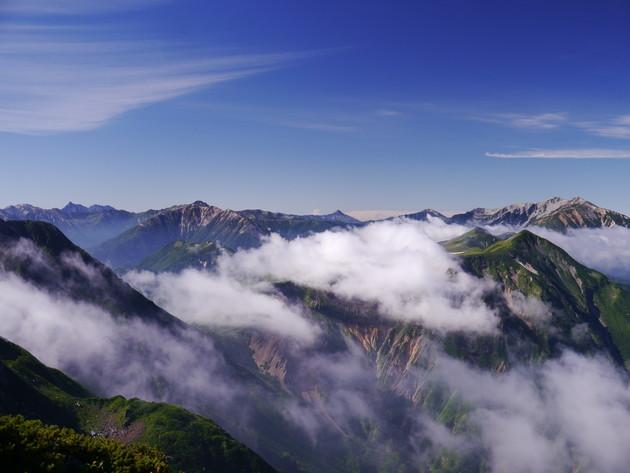 北アルプス 室堂山