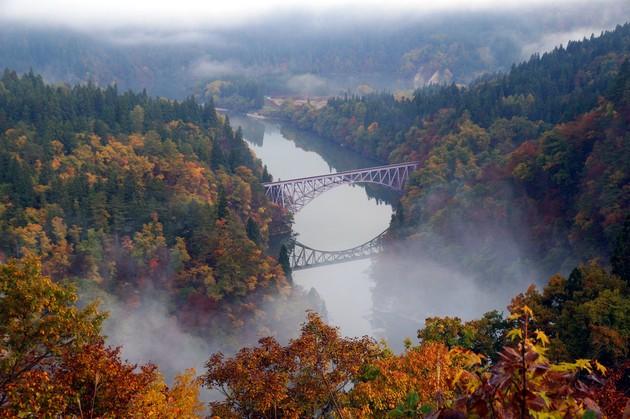 福島県三島町 第一只見川橋梁