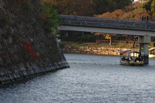 大阪城公園 東内堀 極楽橋と御座船