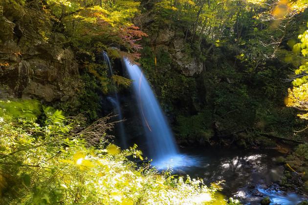 福島県、東山の大滝