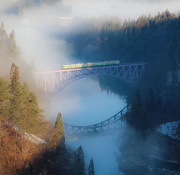 福島県、只見川第一橋梁
