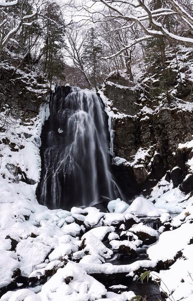 福島県、小野川不動滝