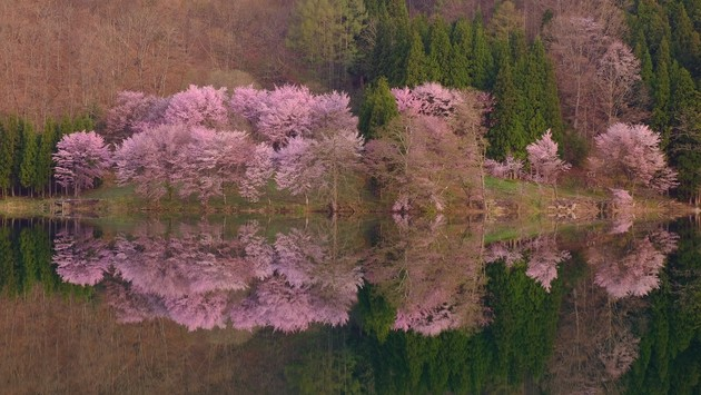 長野県大町市中綱湖