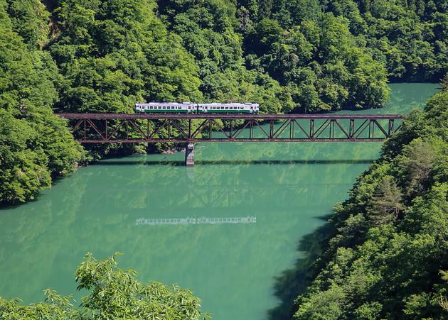 福島県、只見川第三橋梁
