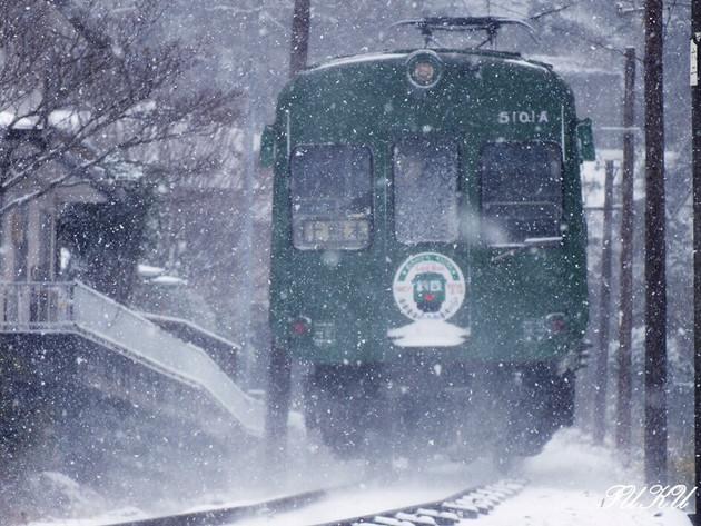 熊本電鉄 池田駅近く